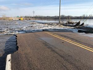 image of flooding in NE taken by CoreTech staff member