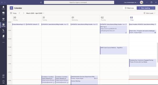 Microsoft Teams - Calendar