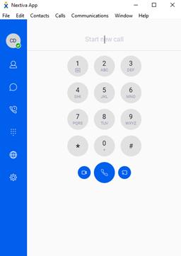 nextiva desktop app dial pad