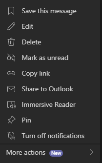 bookmark your microsoft teams messages